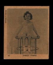 Collectible Old Shirley Temple trade/cigarette card inserts  #009